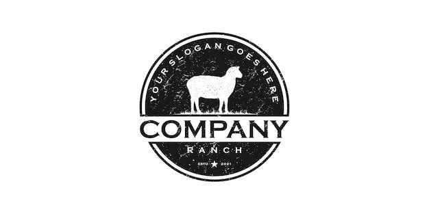 Vintage logo farma i ranczo, odniesienie do logo dla biznesu