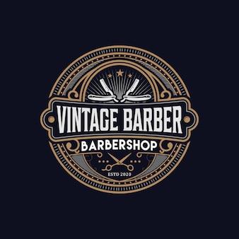 Vintage logo fryzjera.