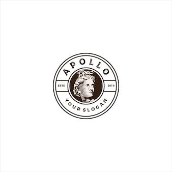 Vintage logo głowy apollo