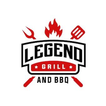 Vintage logo grilla