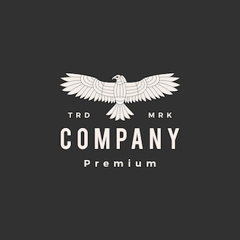 Vintage logo hipster condor