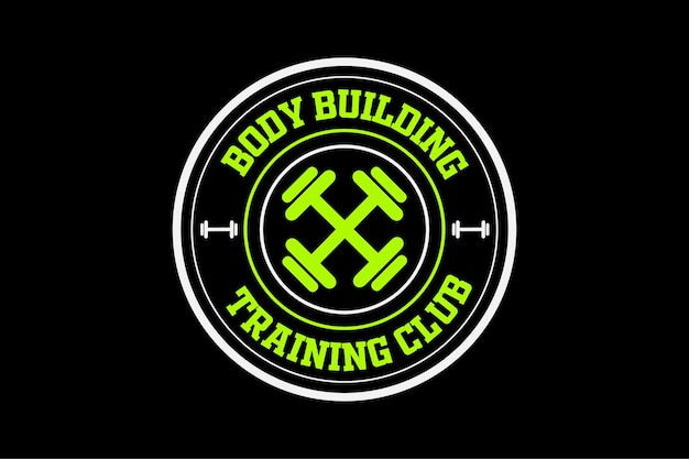 Vintage logo i etykiety motywacyjne do siłowni fitness
