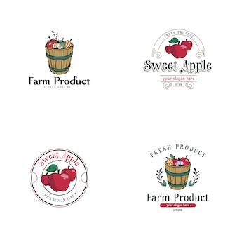 Vintage logo jabłko