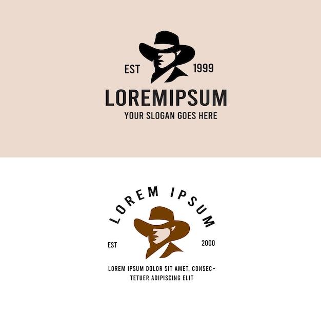Vintage logo kowboja