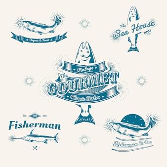 Vintage logo morskie