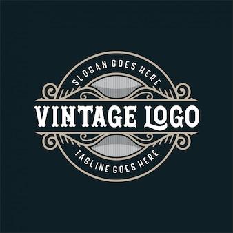 Vintage logo na jedzenie lub restaurację