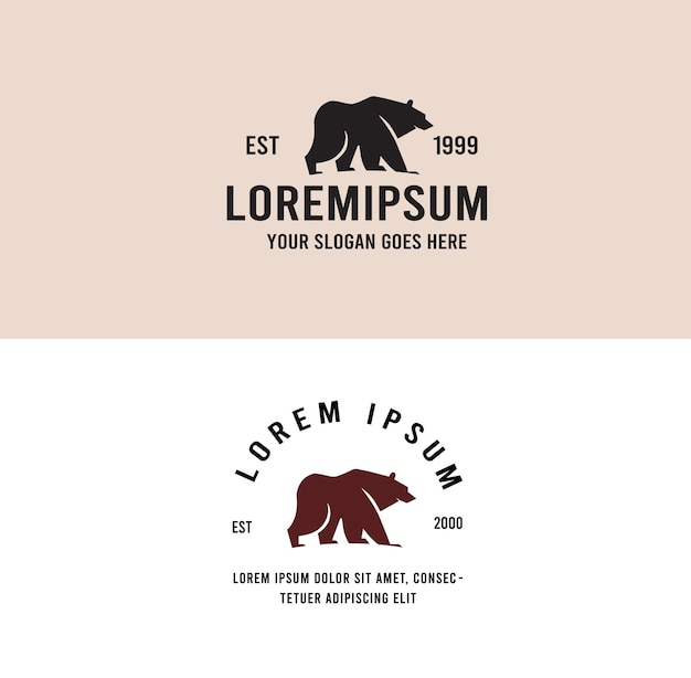 Vintage logo niedźwiedzia