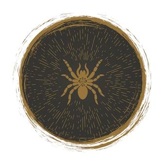 Vintage logo pająka