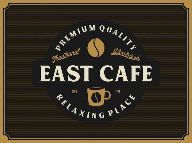 Vintage logo produktu z kawą lub kawiarni