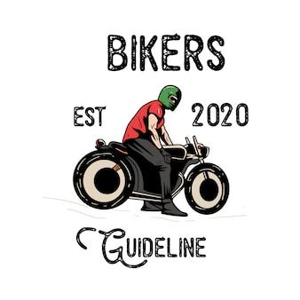 Vintage logo projektu rowerzystów