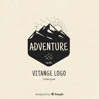 Vintage logo przygodowe