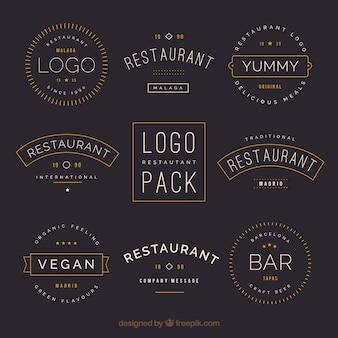 Vintage logo restauracji ze starym stylu