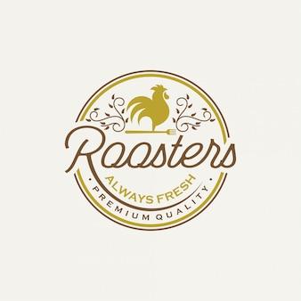 Vintage logo roosters