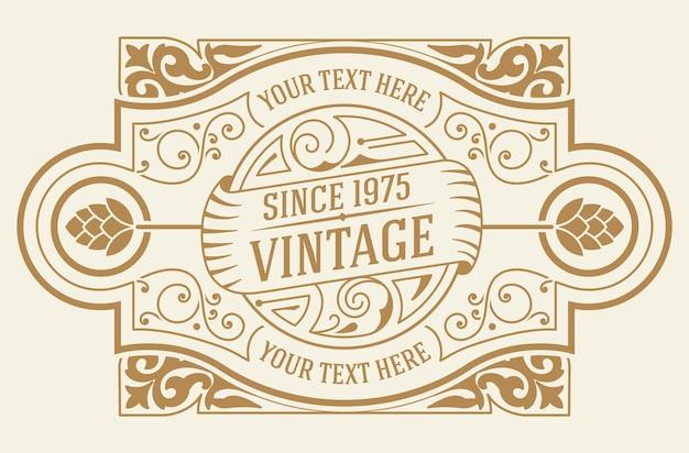 Vintage logo szablon