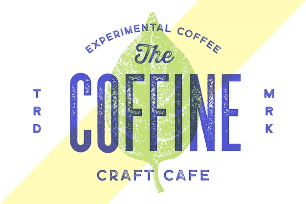 Vintage logo typografii dla kawiarni