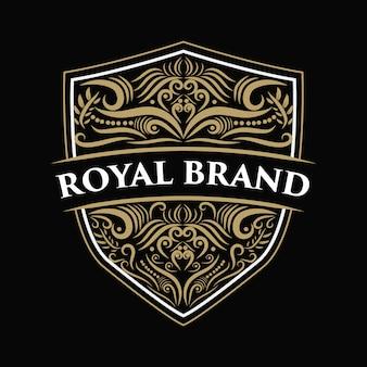 Vintage luksusowe granicy zachodniej antyczne logo rama etykieta ręcznie rysowane grawerowanie retro nadaje się do ręcznego piwa, sklepu z winami i restauracji