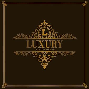 Vintage luxury logo kwiatowy ornament w stylu
