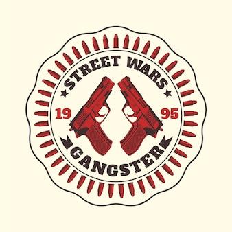 Vintage mafijne logo gangstera