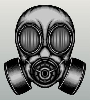 Vintage maska gazowa w wyciągnąć rękę