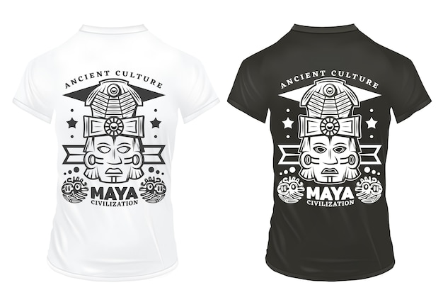 Vintage maya civilization drukuje szablon