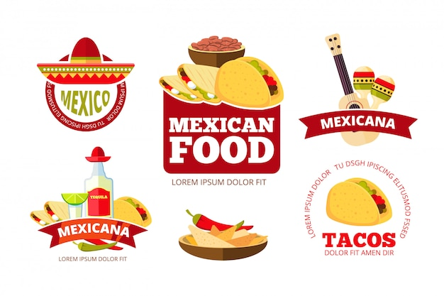 Vintage meksykańska restauracja grafiki