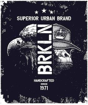 Vintage miejskich typografii ilustracji wektorowych