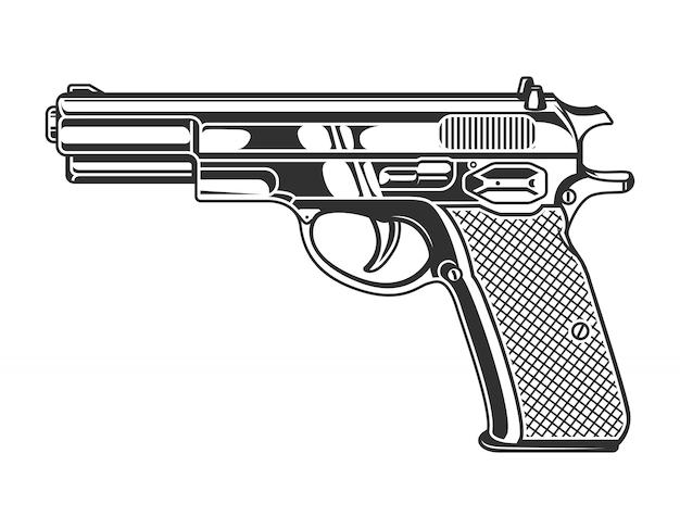 Vintage monochromatyczny pistolet