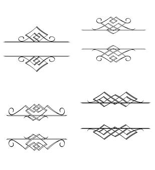 Vintage monogramy i motywy