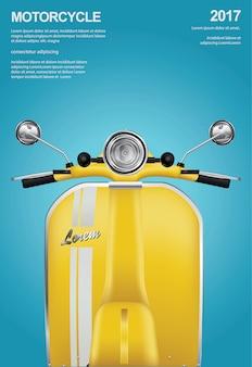 Vintage motocykl na białym tle ilustracja