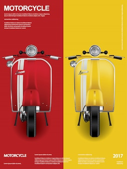 Vintage motocykl na białym tle ilustracji wektorowych