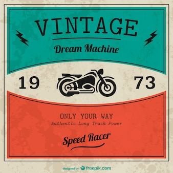 Vintage motocykl wektor