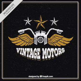 Vintage motocykl ze skrzydłami badground