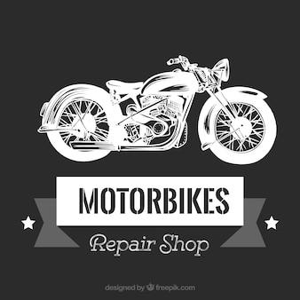 Vintage motorcycle godło