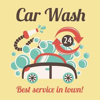 Vintage myjnia samochodowa