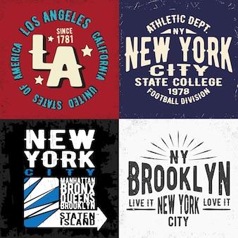 Vintage nadruk na znaczku t-shirt