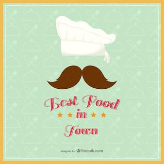 Vintage, najlepsze jedzenie w mieście wektora
