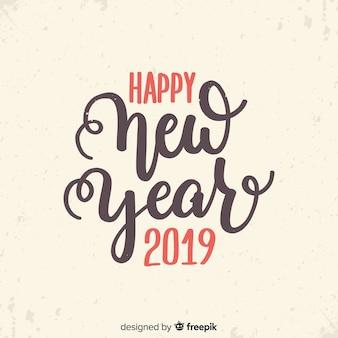 Vintage napis nowy rok 2019