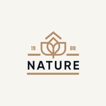 Vintage naturalny projekt logo