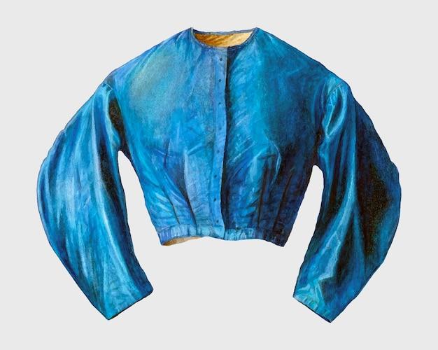 Vintage niebieska bluzka wektor, remiks z grafiki autorstwa freda hassebrock