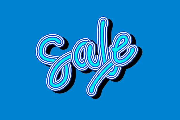 Vintage niebieski odcień sprzedaż płynna tapeta z czcionką