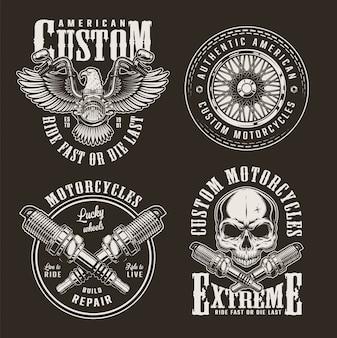 Vintage niestandardowe etykiety motocyklowe