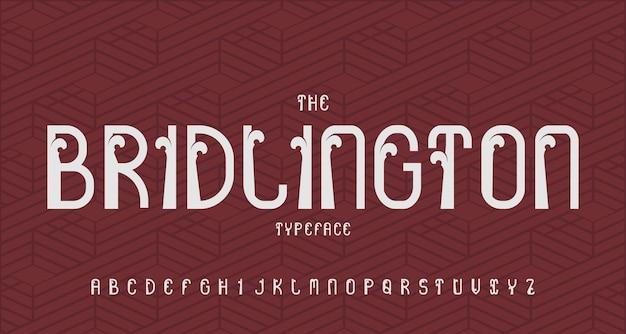 Vintage nowoczesna czcionka alfabetu. typografia kroju pisma w stylu retro
