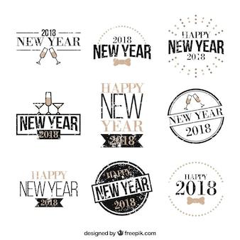 Vintage nowy rok 2018 odznaka kolekcja