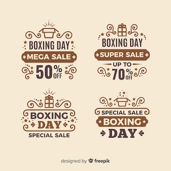 Vintage odznaka sprzedaż boxing dzień odznaka