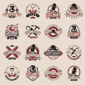 Vintage odznaki dżentelmenów