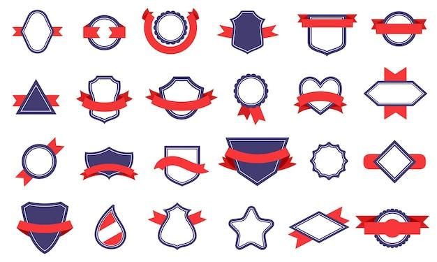 Vintage odznaki i wstążki.