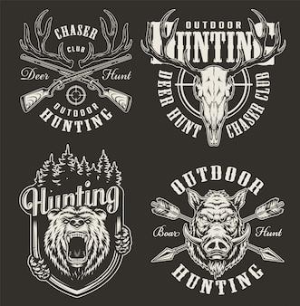 Vintage odznaki myśliwskie