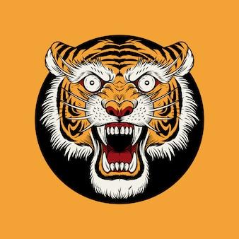 Vintage old school tiger