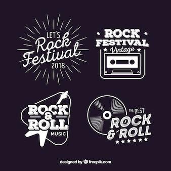 Vintage opakowanie logo rocka