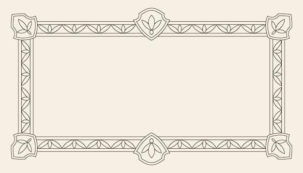 Vintage ornament greeting card vector frame